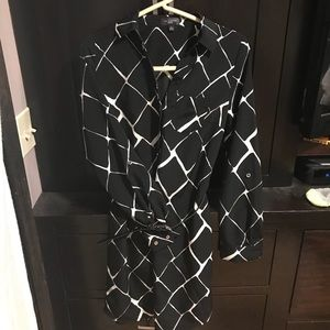 The Limited black and white dress